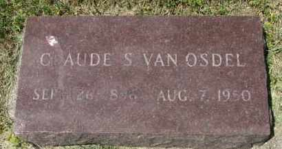 VAN OSDEL, CLAUDE S. - Yankton County, South Dakota | CLAUDE S. VAN OSDEL - South Dakota Gravestone Photos