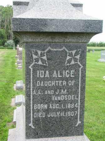 VAN OSDEL, IDA ALICE - Yankton County, South Dakota   IDA ALICE VAN OSDEL - South Dakota Gravestone Photos
