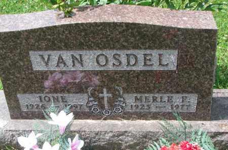 VAN OSDEL, MERLE F. - Yankton County, South Dakota | MERLE F. VAN OSDEL - South Dakota Gravestone Photos