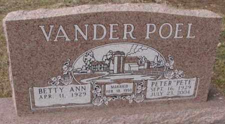 VANDERPOEL, BETTY ANN - Yankton County, South Dakota | BETTY ANN VANDERPOEL - South Dakota Gravestone Photos