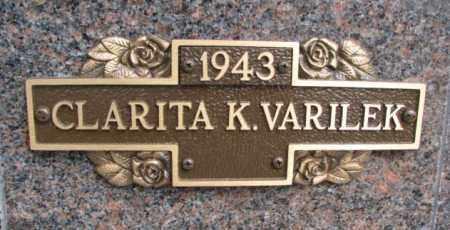 VARILEK, CLARITA K. - Yankton County, South Dakota | CLARITA K. VARILEK - South Dakota Gravestone Photos