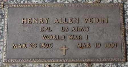 VEDIN, HENRY ALLEN - Yankton County, South Dakota | HENRY ALLEN VEDIN - South Dakota Gravestone Photos