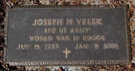 VELEK, JOSEPH H. - Yankton County, South Dakota | JOSEPH H. VELEK - South Dakota Gravestone Photos