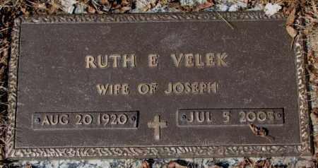 VELEK, RUTH E. - Yankton County, South Dakota   RUTH E. VELEK - South Dakota Gravestone Photos