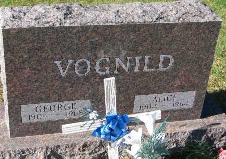 VOGNILD, ALICE - Yankton County, South Dakota | ALICE VOGNILD - South Dakota Gravestone Photos