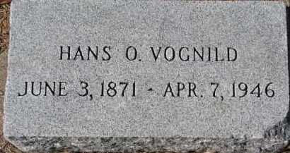 VOGNILD, HANS O. - Yankton County, South Dakota | HANS O. VOGNILD - South Dakota Gravestone Photos