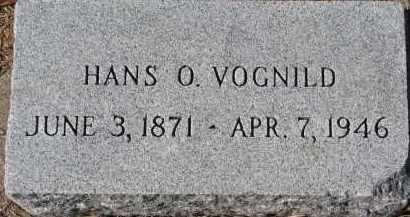 VOGNILD, HANS O. - Yankton County, South Dakota | HANS O. VOGNILD - South Dakota Gravestone Photos