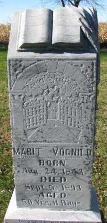 VOGNILD, MARIT - Yankton County, South Dakota | MARIT VOGNILD - South Dakota Gravestone Photos