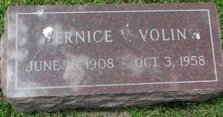 VOLIN, BERNICE V. - Yankton County, South Dakota | BERNICE V. VOLIN - South Dakota Gravestone Photos