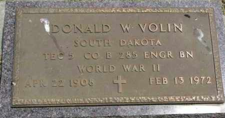 VOLIN, DONALD W. (WW II) - Yankton County, South Dakota | DONALD W. (WW II) VOLIN - South Dakota Gravestone Photos