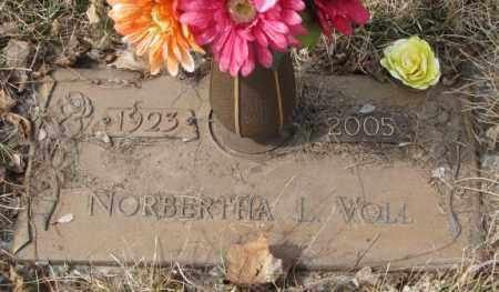 VOLL, NORBERTHA L. - Yankton County, South Dakota | NORBERTHA L. VOLL - South Dakota Gravestone Photos