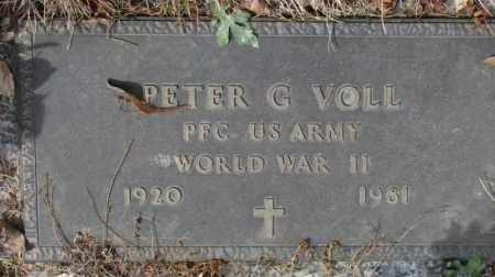 VOLL, PETER G. (WW II) - Yankton County, South Dakota | PETER G. (WW II) VOLL - South Dakota Gravestone Photos