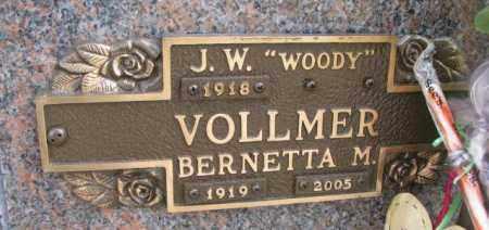VOLLMER, BERNETTA M. - Yankton County, South Dakota   BERNETTA M. VOLLMER - South Dakota Gravestone Photos