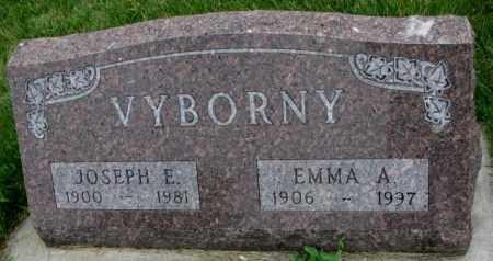 VYBORNY, EMMA A. - Yankton County, South Dakota   EMMA A. VYBORNY - South Dakota Gravestone Photos