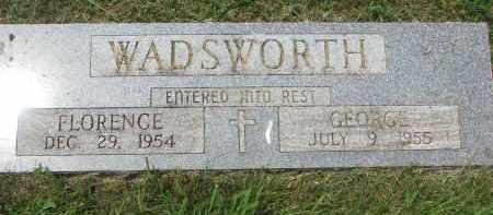 WADSWORTH, GEORGE - Yankton County, South Dakota | GEORGE WADSWORTH - South Dakota Gravestone Photos