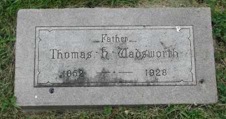 WADSWORTH, THOMAS - Yankton County, South Dakota | THOMAS WADSWORTH - South Dakota Gravestone Photos