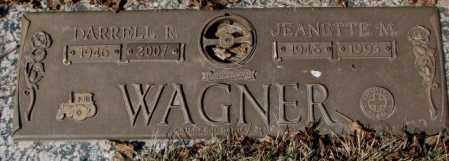 WAGNER, JEANETTE M. - Yankton County, South Dakota | JEANETTE M. WAGNER - South Dakota Gravestone Photos