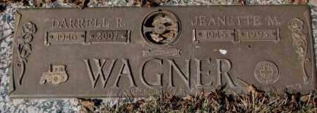 WAGNER, JEANETTE M. - Yankton County, South Dakota | JEANETTE M. WAGNER - South Dakota Gravestone Photos