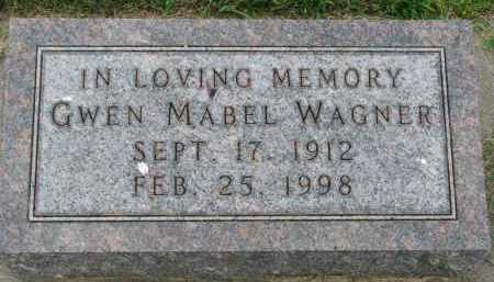 WAGNER, GWEN MABEL - Yankton County, South Dakota | GWEN MABEL WAGNER - South Dakota Gravestone Photos