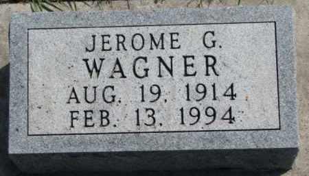 WAGNER, JEROME G. - Yankton County, South Dakota | JEROME G. WAGNER - South Dakota Gravestone Photos