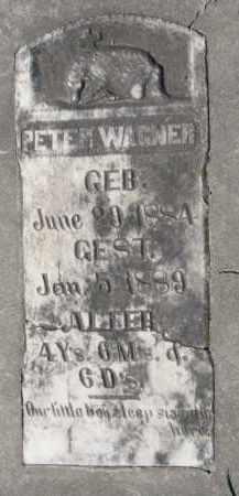 WAGNER, PETER - Yankton County, South Dakota   PETER WAGNER - South Dakota Gravestone Photos