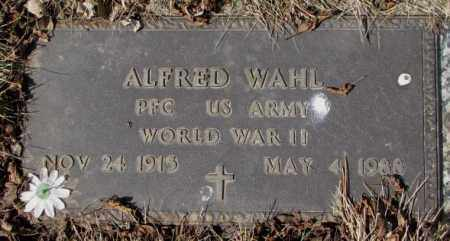 WAHL, ALFRED - Yankton County, South Dakota | ALFRED WAHL - South Dakota Gravestone Photos