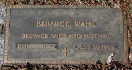 WAHL, BERNICE - Yankton County, South Dakota | BERNICE WAHL - South Dakota Gravestone Photos