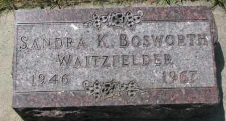 BOSWORTH WAITZFELDER, SANDRA K. - Yankton County, South Dakota | SANDRA K. BOSWORTH WAITZFELDER - South Dakota Gravestone Photos
