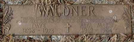 WALDNER, DAVE - Yankton County, South Dakota | DAVE WALDNER - South Dakota Gravestone Photos