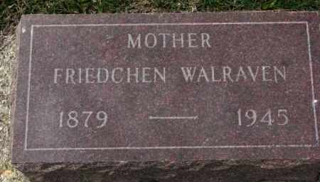 WALRAVEN, FRIEDCHEN - Yankton County, South Dakota | FRIEDCHEN WALRAVEN - South Dakota Gravestone Photos