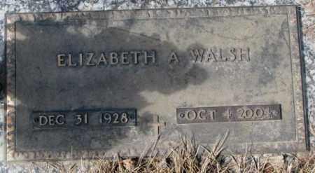 WALSH, ELIZABETH A. - Yankton County, South Dakota   ELIZABETH A. WALSH - South Dakota Gravestone Photos