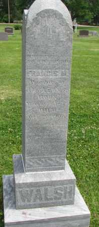 WALSH, FRANCIS M. - Yankton County, South Dakota   FRANCIS M. WALSH - South Dakota Gravestone Photos