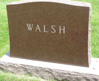 WALSH, FAMILY STONE - Yankton County, South Dakota | FAMILY STONE WALSH - South Dakota Gravestone Photos