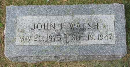 WALSH, JOHN F. - Yankton County, South Dakota | JOHN F. WALSH - South Dakota Gravestone Photos
