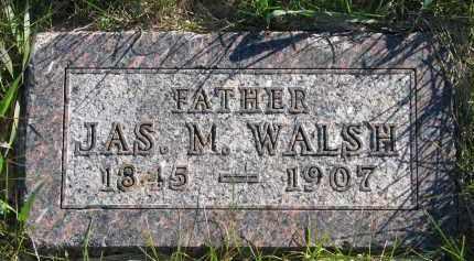 WALSH, JAS. M. - Yankton County, South Dakota | JAS. M. WALSH - South Dakota Gravestone Photos