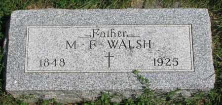 WALSH, M.F. - Yankton County, South Dakota | M.F. WALSH - South Dakota Gravestone Photos