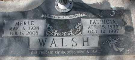 WALSH, MERLE - Yankton County, South Dakota | MERLE WALSH - South Dakota Gravestone Photos