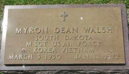 WALSH, MYRON DEAN (MILITARY) - Yankton County, South Dakota | MYRON DEAN (MILITARY) WALSH - South Dakota Gravestone Photos