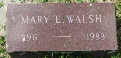 WALSH, MARY E. - Yankton County, South Dakota | MARY E. WALSH - South Dakota Gravestone Photos
