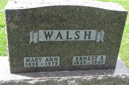 WALSH, ERNEST S. - Yankton County, South Dakota | ERNEST S. WALSH - South Dakota Gravestone Photos