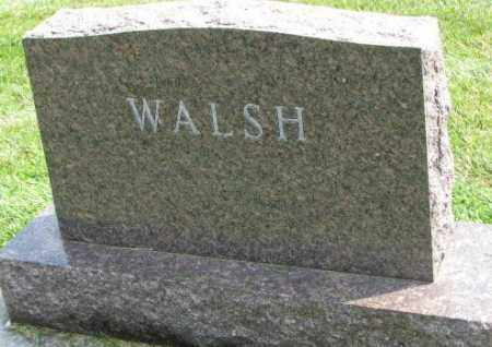 WALSH, PLOT - Yankton County, South Dakota | PLOT WALSH - South Dakota Gravestone Photos