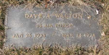 WALTON, DAVE A. - Yankton County, South Dakota | DAVE A. WALTON - South Dakota Gravestone Photos
