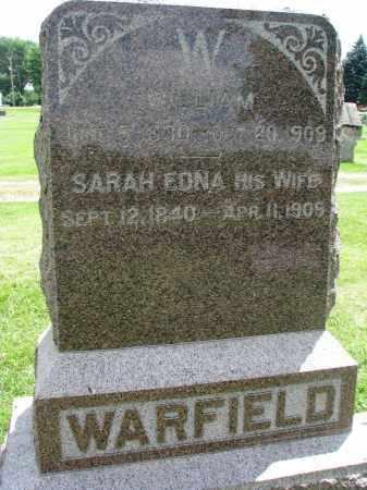 WARFIELD, SARAH EDNA - Yankton County, South Dakota   SARAH EDNA WARFIELD - South Dakota Gravestone Photos
