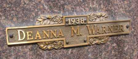 WARNER, DEANNA M. - Yankton County, South Dakota | DEANNA M. WARNER - South Dakota Gravestone Photos