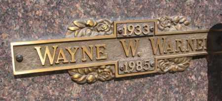 WARNER, WAYNE W. - Yankton County, South Dakota | WAYNE W. WARNER - South Dakota Gravestone Photos