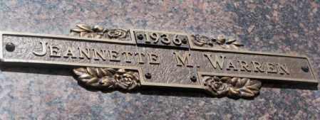 WARREN, JEANNETTE M. - Yankton County, South Dakota | JEANNETTE M. WARREN - South Dakota Gravestone Photos
