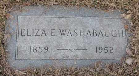 WASHABAUGH, ELIZA E. - Yankton County, South Dakota | ELIZA E. WASHABAUGH - South Dakota Gravestone Photos