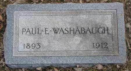 WASHABAUGH, PAUL E. - Yankton County, South Dakota | PAUL E. WASHABAUGH - South Dakota Gravestone Photos