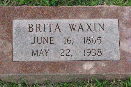 WAXIN, BRITA - Yankton County, South Dakota | BRITA WAXIN - South Dakota Gravestone Photos