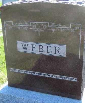 WEBER, FAMILY STONE - Yankton County, South Dakota   FAMILY STONE WEBER - South Dakota Gravestone Photos